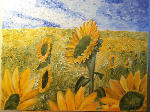 Sunflowers-Original-Oil-Painting-on-Canvas-16x20