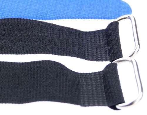 50 x Kabelklettband 30 cm x 25 mm blau Klettband Klett Kabel Binder Band mit Öse