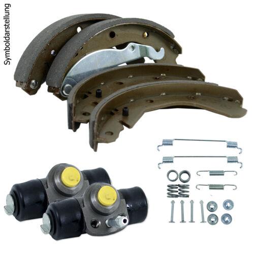 mit ABS Bremsbacken Radbremyzylinder Montagesatz Bremsenset für Peugeot 206
