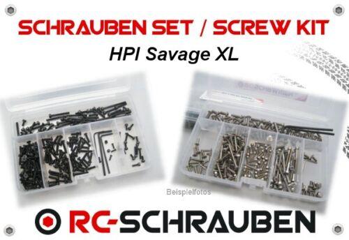 Edelstahl /& Stahl Schrauben-Set für den HPI Savage XL ISK /& ISR