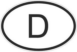 OVAL-sticker-flag-country-code-bumper-decal-car-germany-german-D