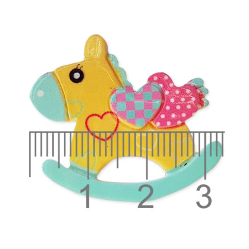 5pcs Rocking Horse Planar Acrylic Flatback Cabochons Embellishment Decoden Craft