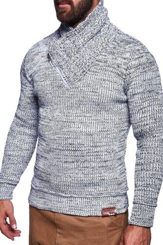 Uomo pullover con collo sciallato Lavorazione a Maglia Pullover Cardigan Felpa Nuovo