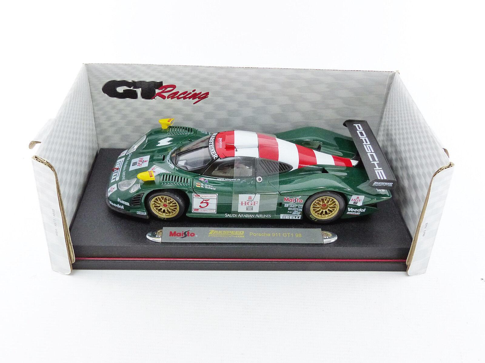 MAISTO 1/18 - PORSCHE 911 GT1 LE MANS - 38873
