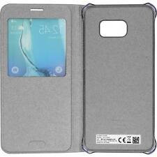 NUOVO Originale Samsung Galaxy S6 EDGE+ PLUS S-VIEW FLIP COVER-Argento new blist