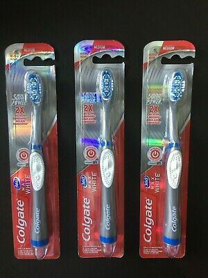 Colgate 360 Max White One Sonic Power Vibrating Toothbrush Medium