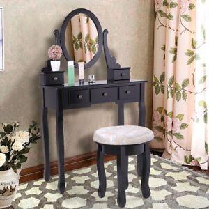 Image Is Loading Makeup Vanity Table Set W Stool Bedroom Dressing