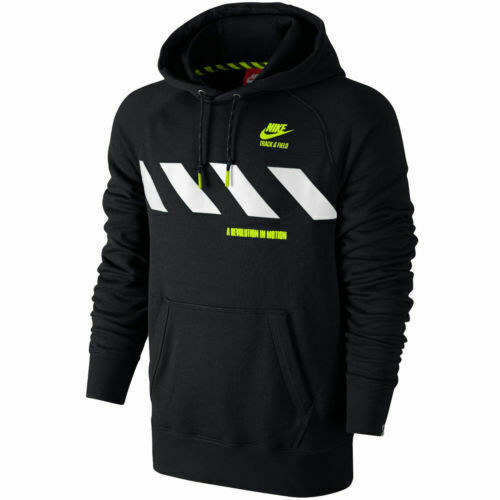 parálisis Ninguna Esplendor  Nike Track & Field Mens Black USATF Zip Running Hoodie Sweatshirt 457719  for sale online   eBay