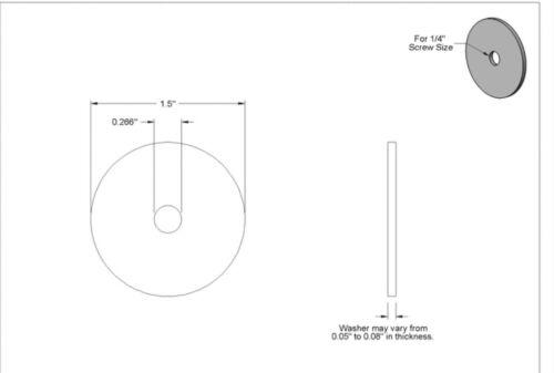 """1//4"""" X 1-1//2 Fender Washer Black Oxide Extra Wide Oversize Plaster Fits 1//4"""" 25"""
