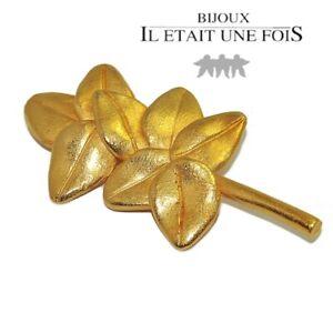 IL-ETAIT-UNE-FOIS-Broche-de-couleur-or-mat-branche-feuille-bijou