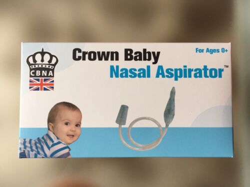 For use with vacuum cleaner or mouth CBNA nasal aspirator for mucus extraction