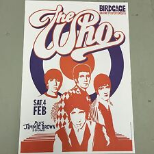 THE WHO - CONCERT POSTER PORTSMOUTH SATURDAY 4th FEBRUARY (A3 SIZE)