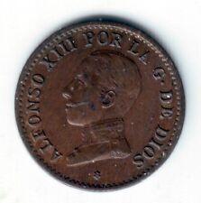 ESPAÑA 1 céntimo 1912 *2* cobre Rey Alfonso XIII ceca de Madrid