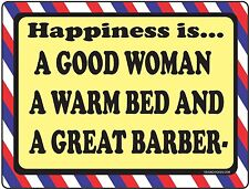 Barber Shop Sign Happiness Is Barber Supplies Barber Chair Salon Supplies