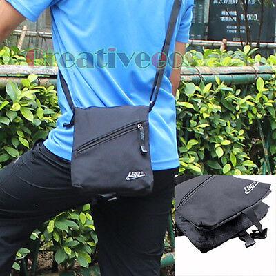 Unisex Zipper Foldable Backpack Crossbody Messenger Shoulder Casual Nylon Bag