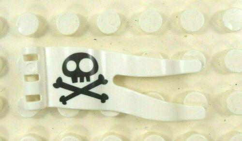 Lego Duplo Item Pennant Skull /& Crossbones One Side Printed white//black