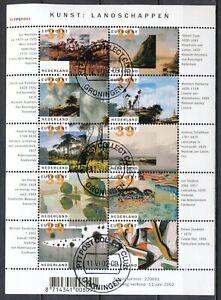 NEDERLAND-GESTEMPELD-VELLETJE-KUNST-LANDSCHAPPEN-2002-Pa25a