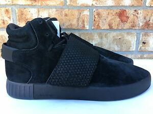 986202e3b8bb Men s Adidas Tubular Invader Strap Shoes Triple Black Size 9.5-10.5 ...