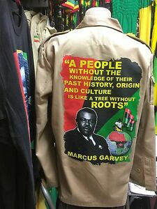 MARCUS-GARVEY-ARMY-JACKET-SAND-COLOUR-WITH-RASTA-ROOTS-CULTURE