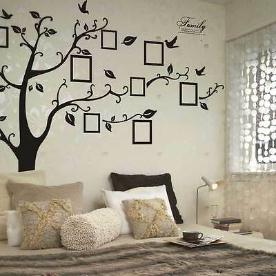Black Photo Frame Tree Removable Wall Sticker Decal  Mural Vinyl Art For Home