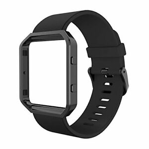 Fitbit-Blaze-Bands-with-Frame-Simpeak-Silicone-Replacement-Band-Strap-with-Stai