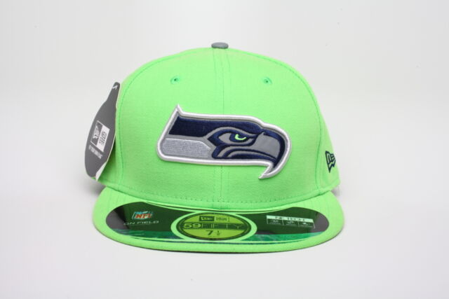 4e605e228 Seattle Seahawks Era 59fifty NFL Thanksgiving 2014 Fitted Hat Sz 7 1 2 Lime