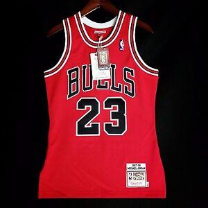 83ede7a19ae 100% Authentic Michael Jordan Mitchell Ness 97 98 Bulls Jersey Mens ...