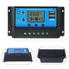 10A 20A 30A Solar Panel PWM Charge Battery Controller Regulator 12V/24V w/ LCD