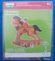 Creatology Craft Kit For Kids 78 Pc Christmas Rocking Horse 3d Figure