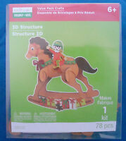 Creatology Craft Kit For Kids 78 Pc Christmas Rocking Horse 3d Figure