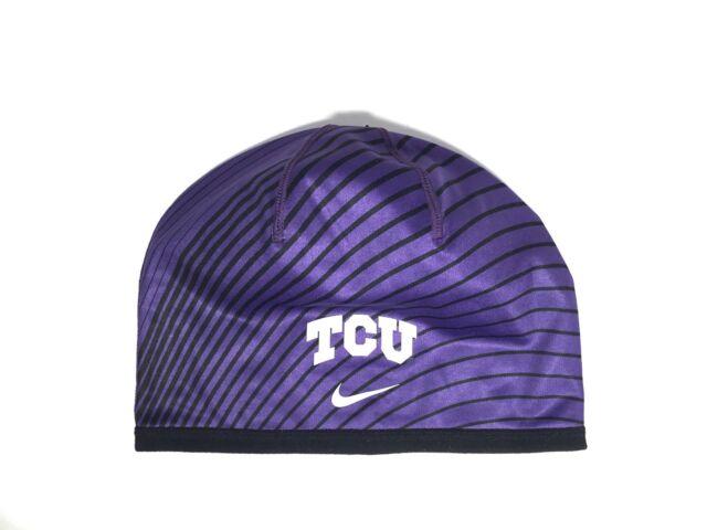 f2704a58252 NWT Nike TCU Horned Frogs Sideline Training Beanie One Size Purple ( 32)