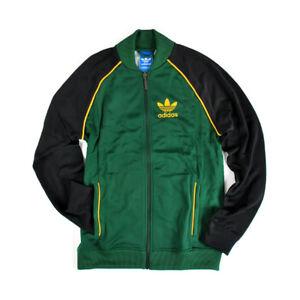 Details about Adidas Originals Superstar Track Jacket Dark Green Men's Medium BNWT