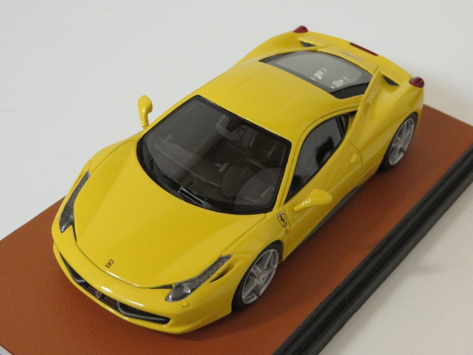 1 43 MR Collection Ferrari 458 Italia Tristrato giallo Dealer Edition Leather