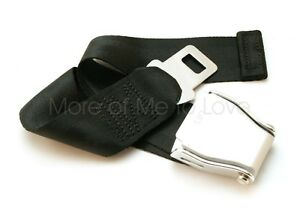 """8-25"""" Adjustable Airplane Seat Belt Extension  - Fits 99% - E4 Safety Certified!"""