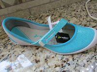 Rider Insight Shoes Womens 11 Gray/blue Ballet Flats Mary Janes Free Ship