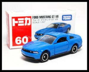 tomica 60 ford mustang gt v8 1 67 tomy diecast car 2014 july new model blue ebay. Black Bedroom Furniture Sets. Home Design Ideas