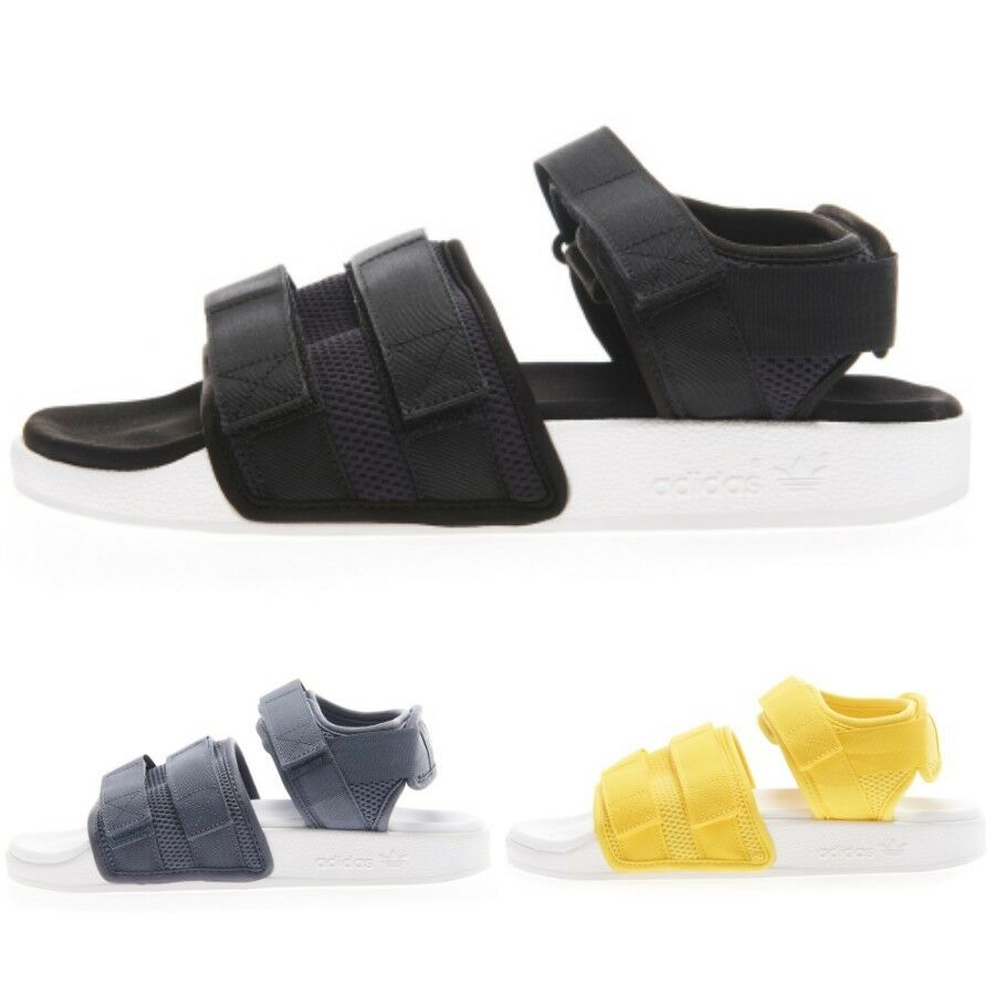 Adidas Original Adilette Sandal 2.0 Slippers Black Yellow Green AC8583 Size 4-13