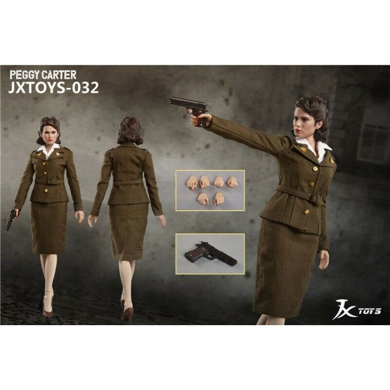 In-stock 1 6 Scale JXTOYS 032 Peggy Carter Captain America 12in Action Figure