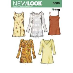 a60ffd69a7c Details about New Look Sewing Pattern 6086 Misses Tunic Tops Dress Size  10-22 Uncut New