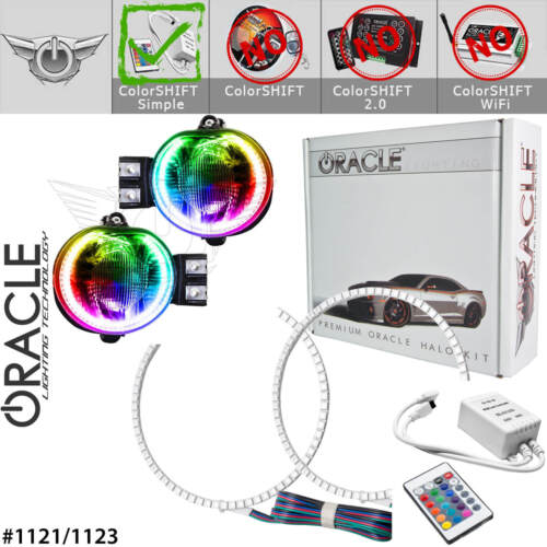 ORACLE Halo Kit for Fog Lights for 02-08 Dodge RAM /& 04-06 Durango *All Colors