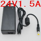 AC 100V-240V Converter Adapter DC 24V 1.5A 36W Power Supply Charger 1500mA New