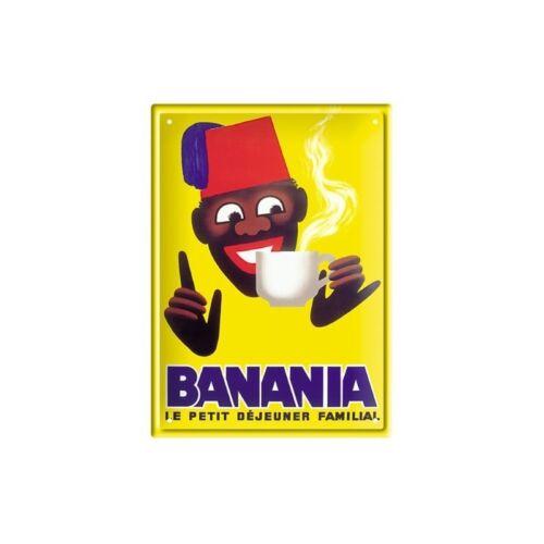 Banania Tirailleur moderne PLAQUE METAL PUB VINTAGE 2 FORMATS DISPONIBLES