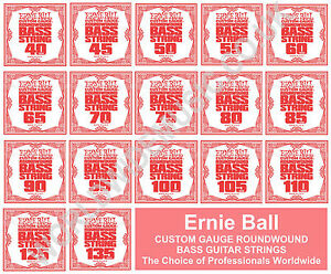 ernie ball bass guitar strings single string packs all gauges 040 135 ebay. Black Bedroom Furniture Sets. Home Design Ideas
