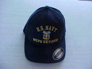 96d55565042 US Navy Master Chief Petty Officer MCPO RETIRED embroidered Flexfit ...