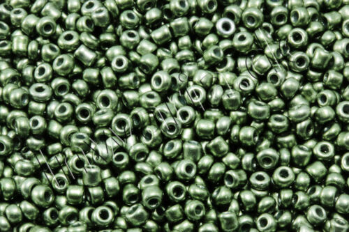 Rocaille Metallic Mat ø 2//3//4 mm 20//100 G perles perles de verre rp-70