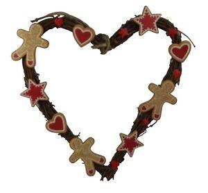 Gisela-Graham-Christmas-Tree-Decorations-Gingerbread-Heart-Wreath