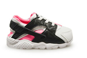 Details about Infants Nike Huarache Run (TD) - 704952 104 - White Black Pink Trainers
