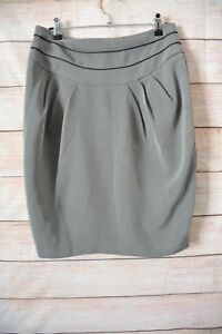 Sheike-Skirt-Size-10-Medium-Grey-Pencil-Skirt
