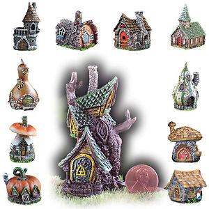 Fiddlehead-Fairy-Garden-Homes-Micro-Miniature-Houses-Mushroom-Castle-Tree-Log