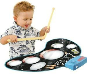 Click-N-Play-Kids-Electronic-Touch-Sensitive-Play-Mat-Drum-Set-Real-Drum-Sounds